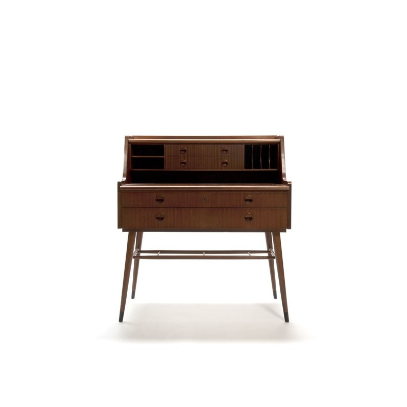 zweedse design secretaire in mahonie. Black Bedroom Furniture Sets. Home Design Ideas