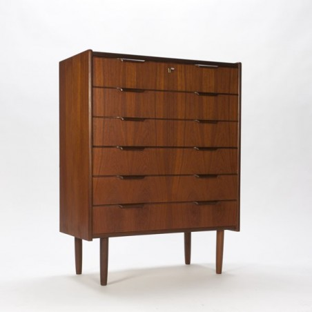 Chest of drawers in teak from Scandinavia