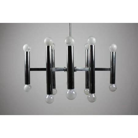 Chromen hanglamp jaren 60