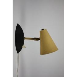 1950's wall lamp yellow 2