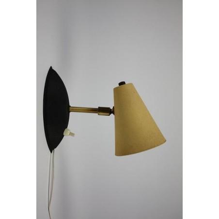 1950's wandlamp geel 2