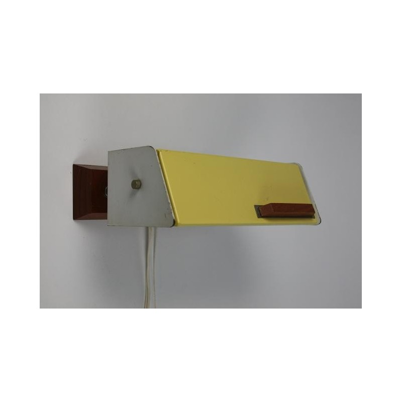 Wall lamp 1950's yellow