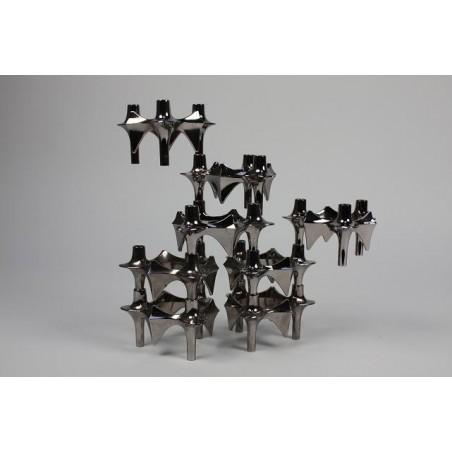 Stackable candelholders set of 8