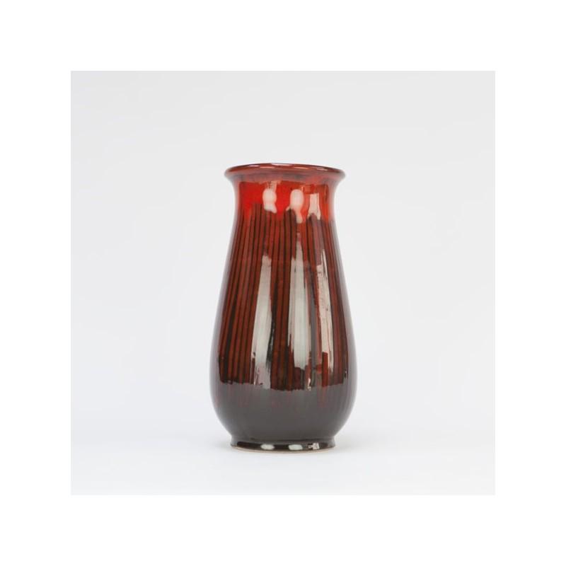 Keramieke vaas rood/ bruin