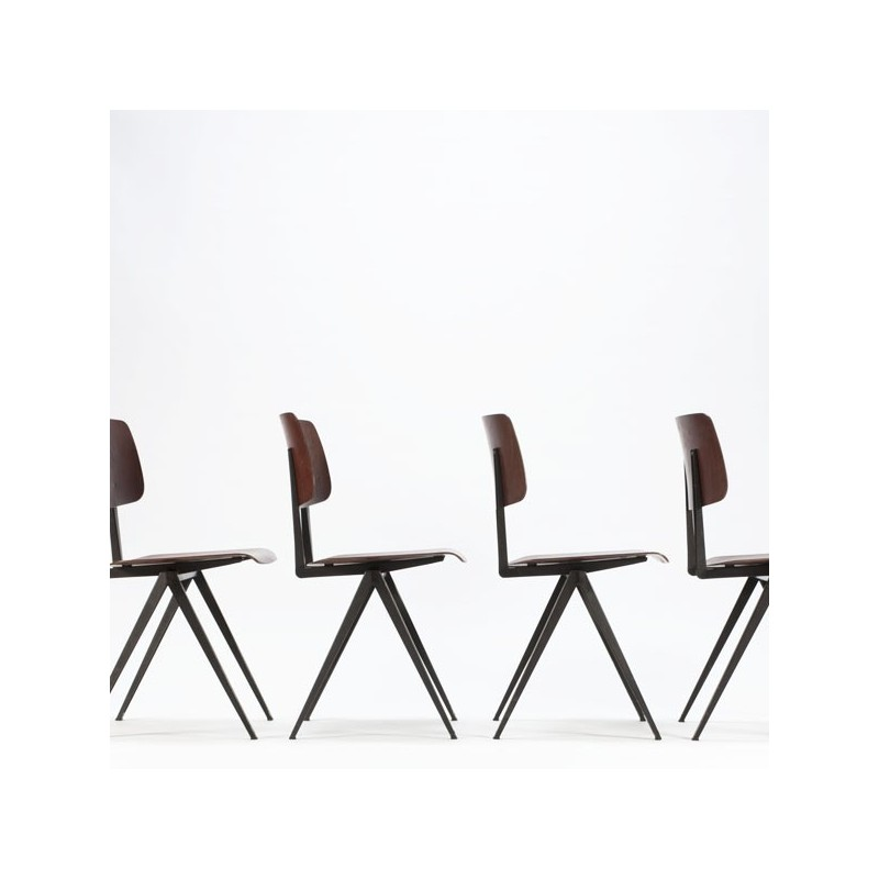 Set of 4 industrial Galvanitas chairs