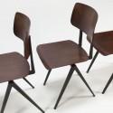 Set van 4 industriele Galvanitas stoelen