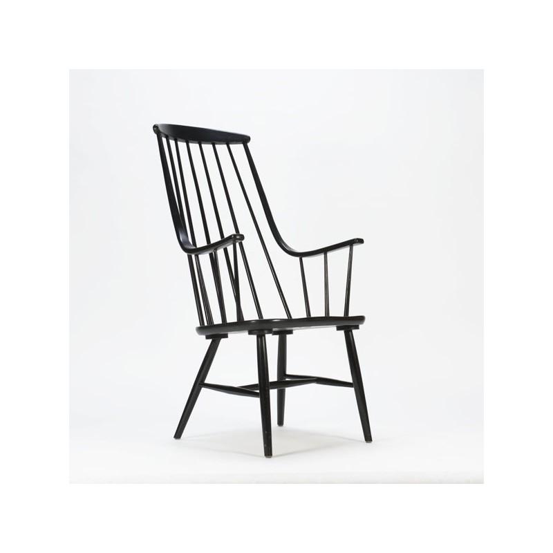 Houten fauteuil Tapiovaara stijl