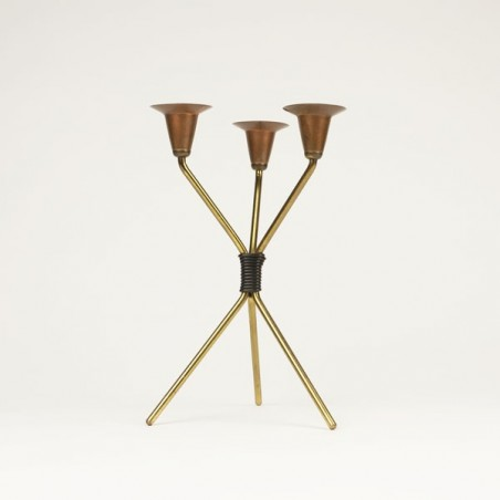 Brass colored candleholder
