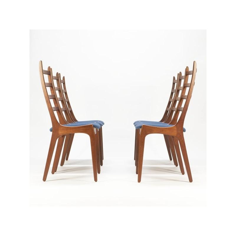 Set van 6 Deense eettafel stoelen