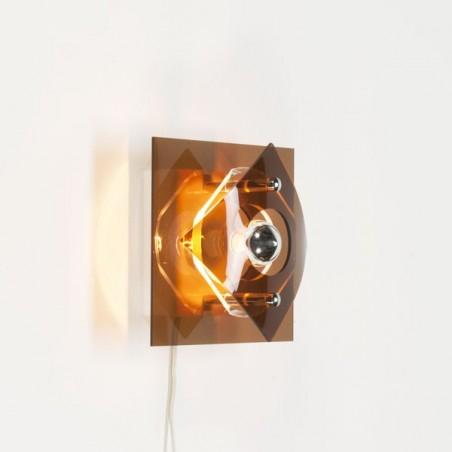 Vintage plexiglazen wandlamp jaren 70