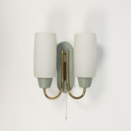 Wandlamp met glas jaren 50