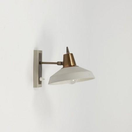 Wall lamp grey/brass
