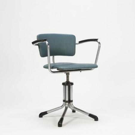 Gispen bureaustoel blauw