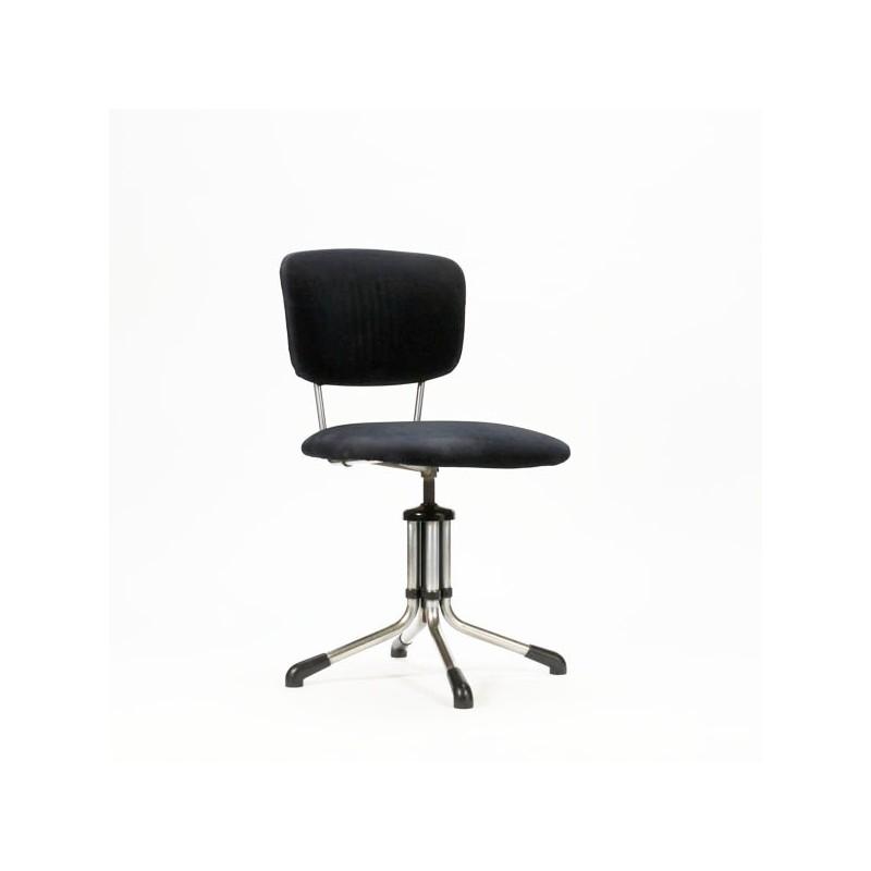Gispen bureaustoel zwart rib