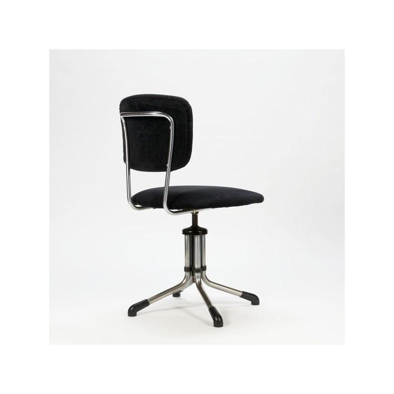 Originele Gispen Bureaustoel.Gispen Bureaustoel Zwart Rib Retro Studio