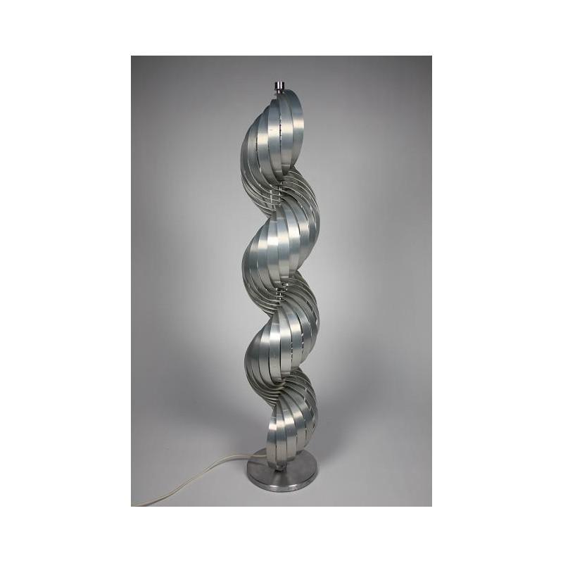 Vintage aluminium design lamp Henri Mathieu