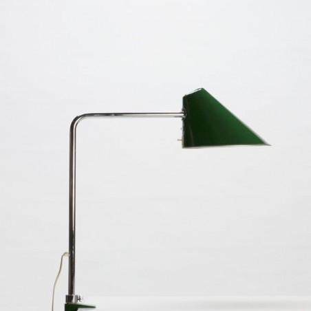Bureau-/ klemlamp met groene kap
