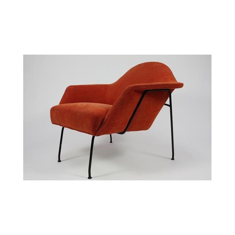 Jaren 50 fauteuil oranje