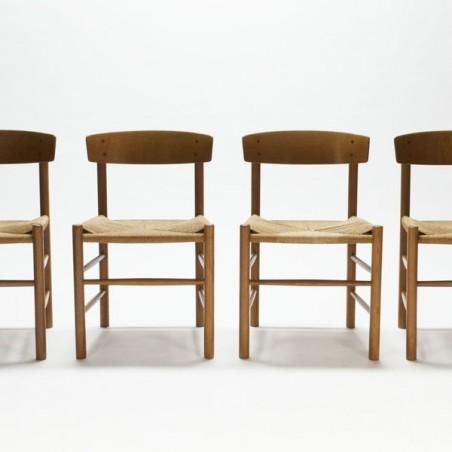 Set van 4 Børge Mogensen stoelen