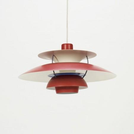 Vintage PH 5 hanglamp ontwerp Poul Henningsen rood