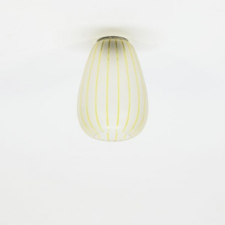 Ceiling lamp 1950's glass/yellow