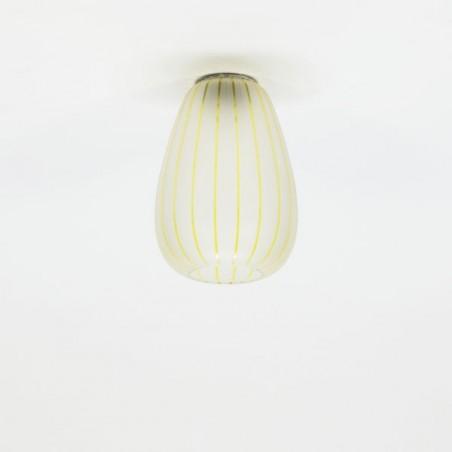 Plafondlamp jaren 50 geslepen glas