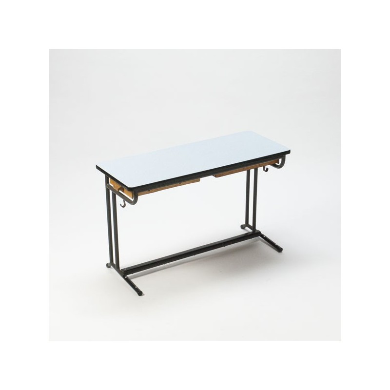 Child's desk with blue formica top