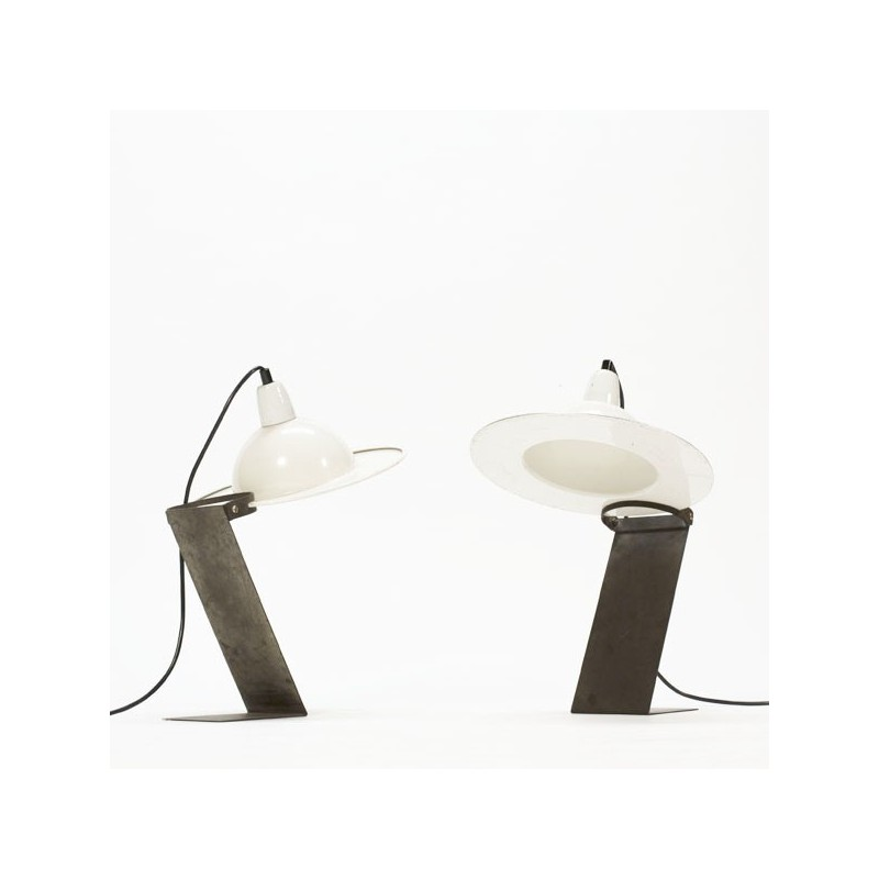 Set of 2 industrial table lamps