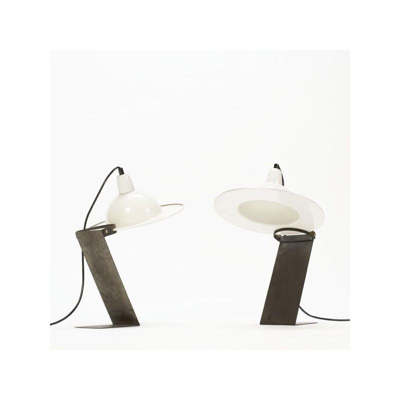 Set van 2 industriele tafellampen