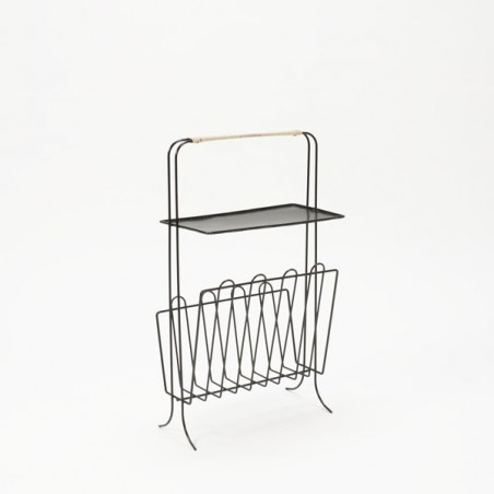 Magazine holder with perforated metal sheet