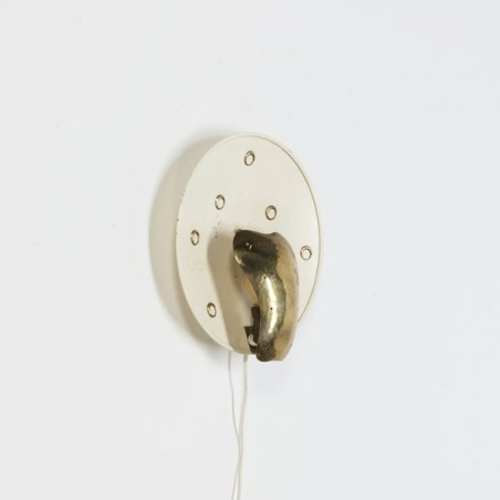 Wall sconce brass 1950's