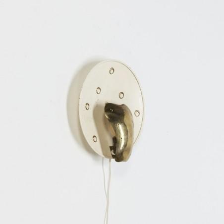 Wandlamp jaren 50 messing