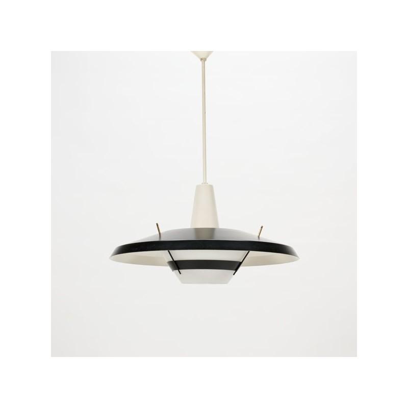 Modernistic black/white hanging light