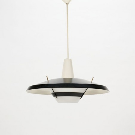 Modernistic black/white hanging light