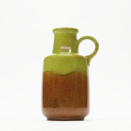 Scheurich vase green/ brown