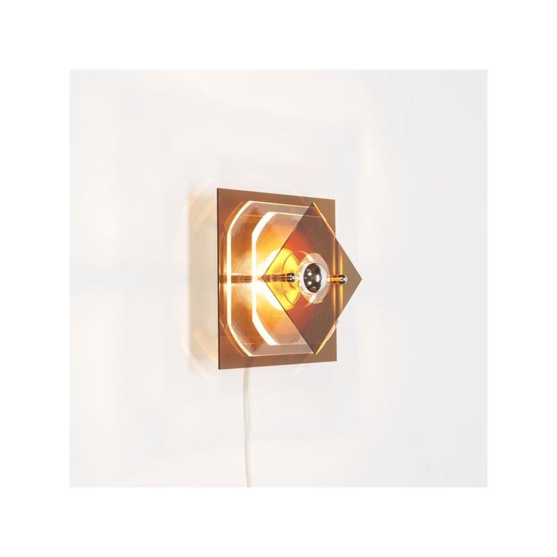 Plexiglazen wandlamp jaren 70 nr.2