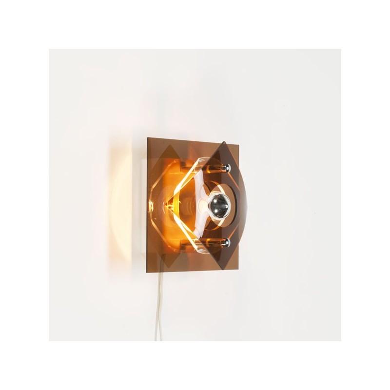 Plexiglazen wandlamp jaren 70 vintage