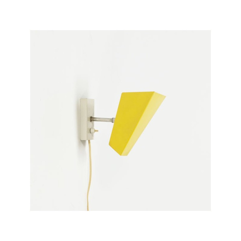 Modernistic wall lamp yellow