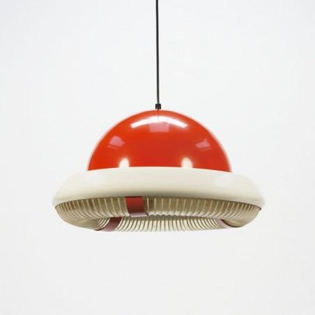 Orange space hanging lamp