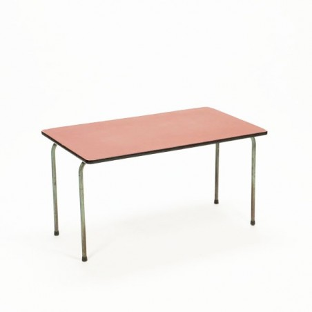 Child's table with red top