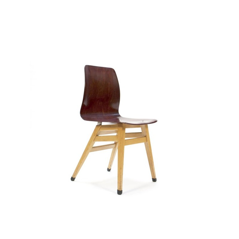 Pagholz chair with wooden base