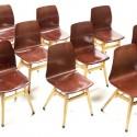 Pagholz stoel met houten frame