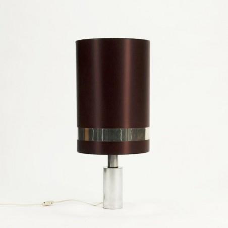 Tafellamp met bruine kap