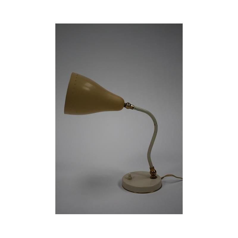 Jaren 50 tafellamp creme