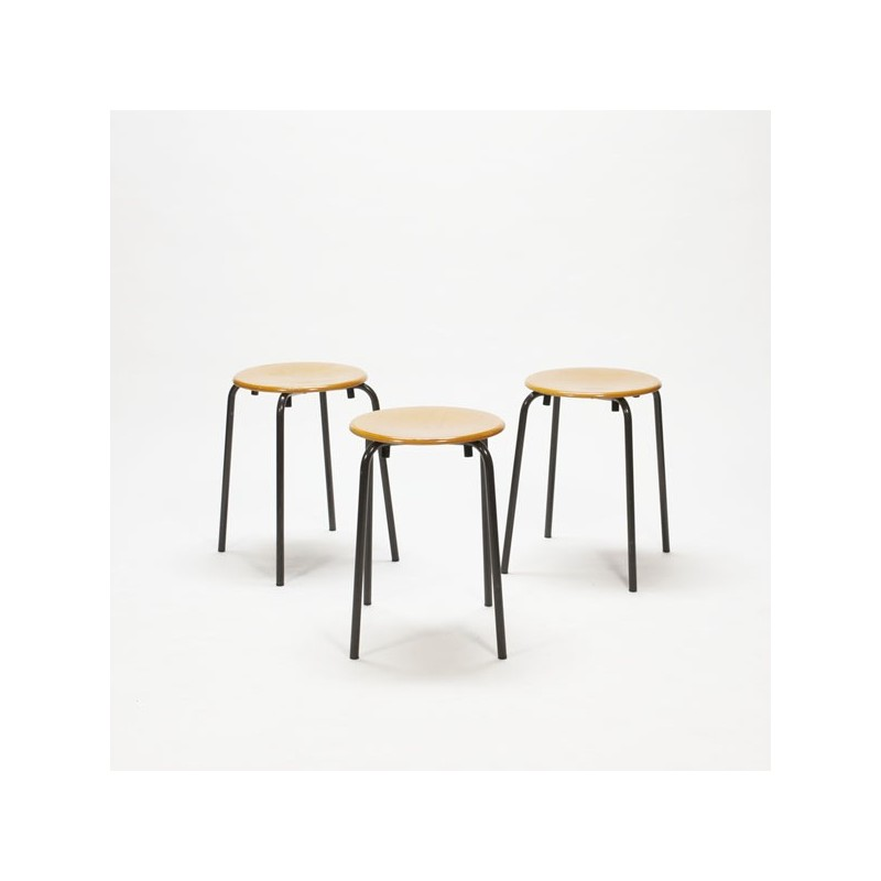Set of 3 industrial stools