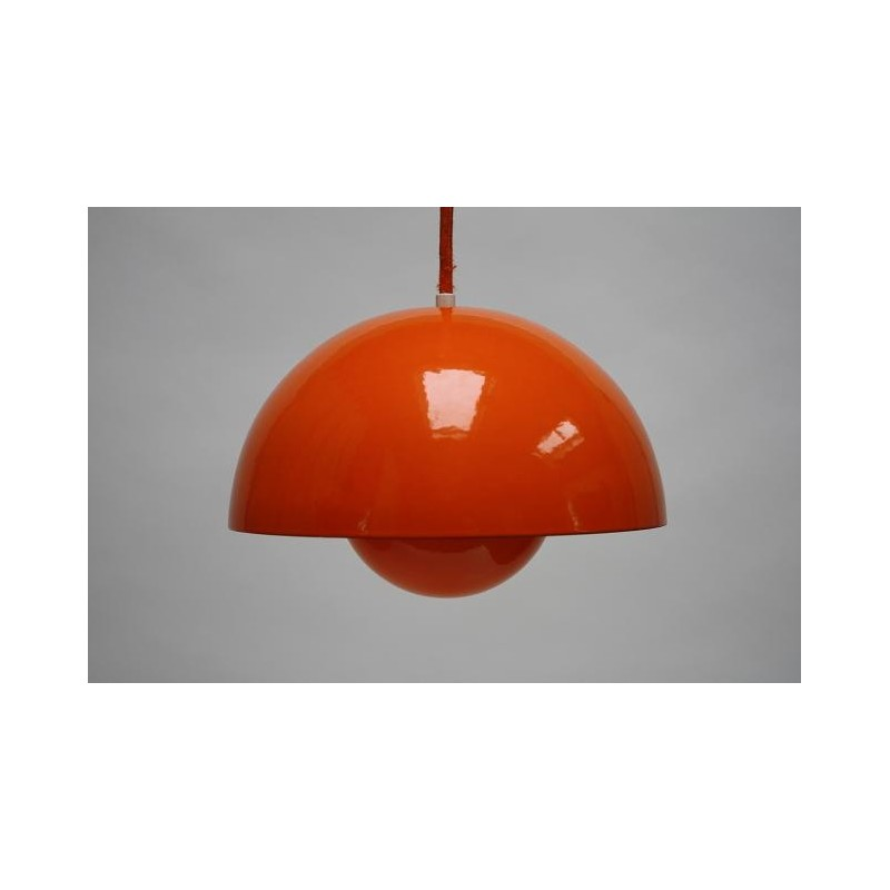 Flower Pot by Verner Panton orange