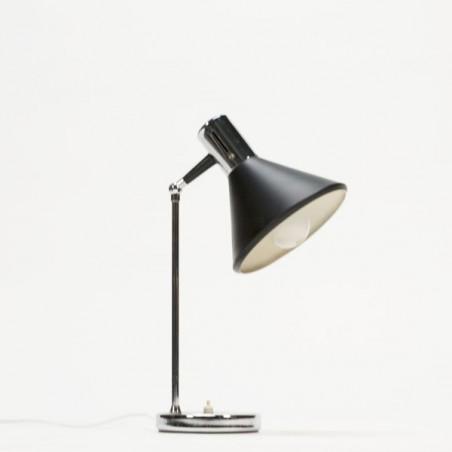 Tafellamp zwart/chroom jaren 60