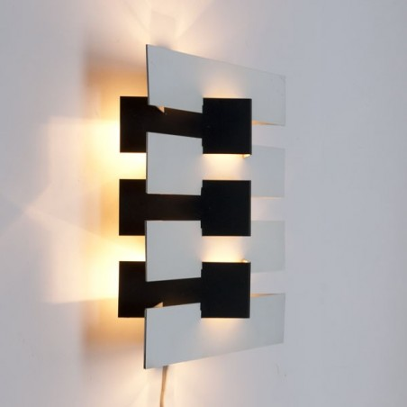 Vintage Anvia modernistische wandlamp zwart