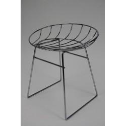 Chrome wire stool