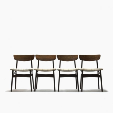 Palissander eettafel stoelen set van 4